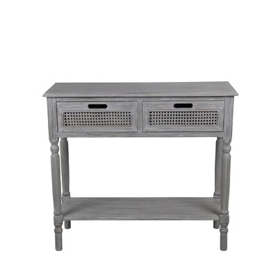 Rensfield 2 Drawer Console Table Color: Slate Gray