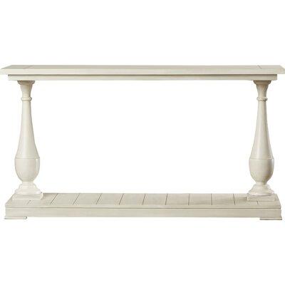 Travis Console Table Color: Antique white