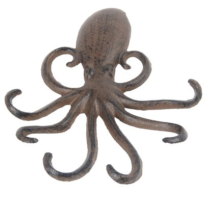 Jomar Octopus Wall Hook Color: Rust Brown