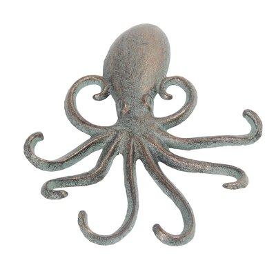 Jomar Octopus Wall Hook Color: Verde Green
