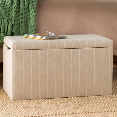 Evalyn Cotton Upholstered Storage Bench Color: Dove