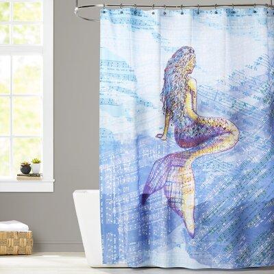 Cedarville Mermaid Geometric Print Shower Curtain