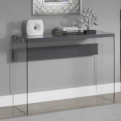 Kells Console Table Color: Grey