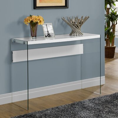Kells Console Table Color: White