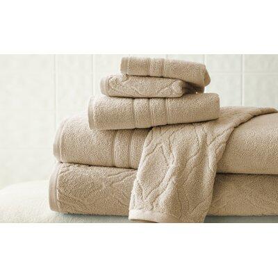 6 Piece 100% Cotton Towel Set Color: Taupe