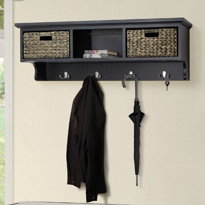 Fleming Wall Mounted Coat Rack Color: Espresso