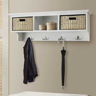 Fleming Wall Mounted Coat Rack Color: Cream