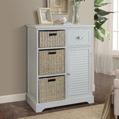Fleming Storage 1 Door Accent Cabinet Color: Cream