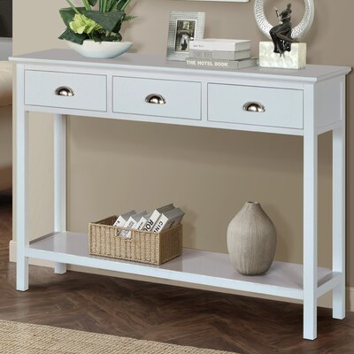 Fleming Console Table Color: Cream