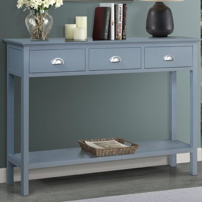 Fleming Console Table Color: Gray