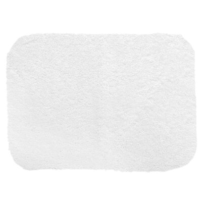 "Chatham Bath Mat Size: 40"" L x 24"" W, Color: White"