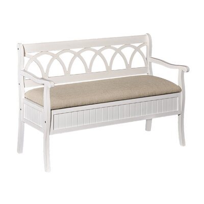 Channahon Storage Bench Color: White