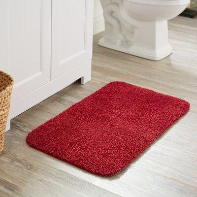 Julienne Basic Bath Rug Color: Cranberry
