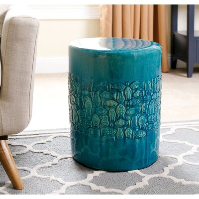 Aeliana Garden Stool Finish: Teal