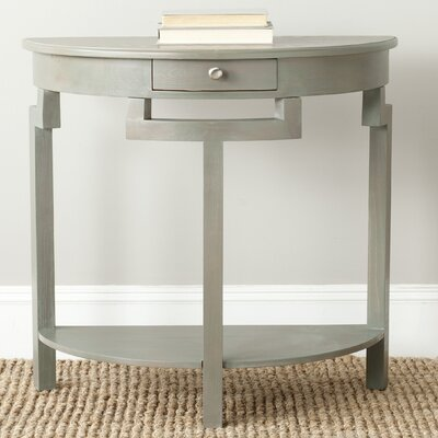 Swansea Console Table Color: French Gray