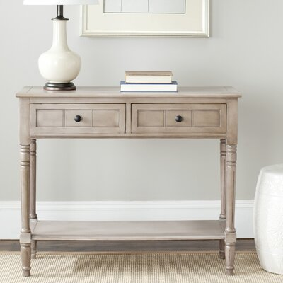 Manning 2 Drawer Console Table Color: Vintage Gray