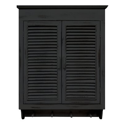 Thurman Louvered Cabinet Color: Distressed Black