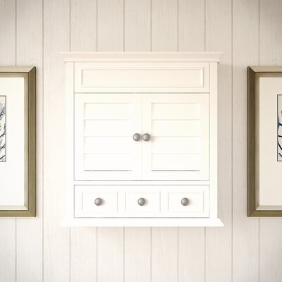 Martel Lane 1 Drawer Wall Accent Cabinet Color: White