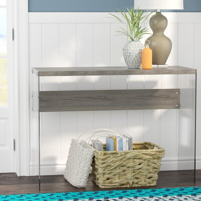 Kells Console Table Color: Dark Taupe
