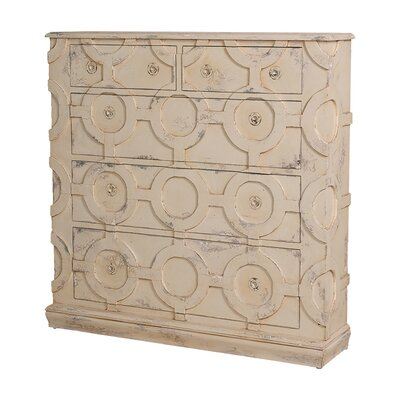 Gowan Carved Wall 5 Drawer Accent Chest