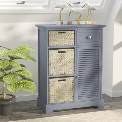 Fleming Storage 1 Door Accent Cabinet Color: Gray