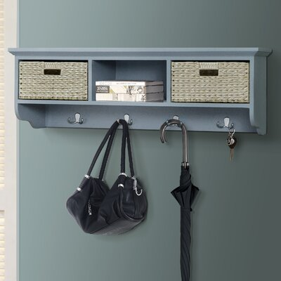 Fleming Wall Mounted Coat Rack Color: Gray