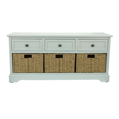 Ardina Wood Storage Bench Color: Antique Iced Blue
