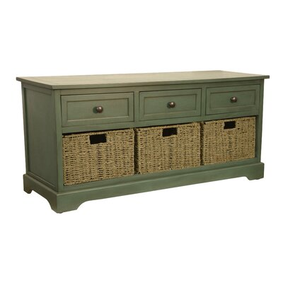Ardina Wood Storage Bench Color: Antique Teal