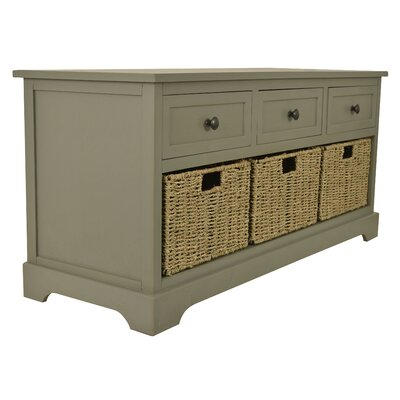 Ardina Wood Storage Bench Color: Ant Gray