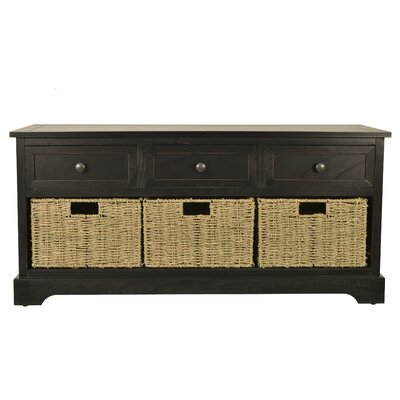 Ardina Wood Storage Bench Color: Black