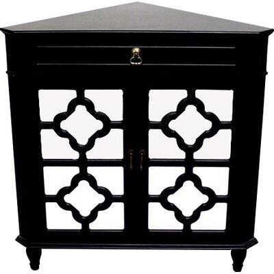 Moretown 1 Drawer 2 Door Accent Cabinet Color: Black