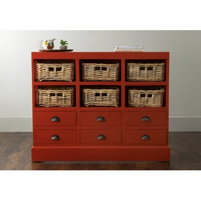Verlene 6 Drawer Storage Accent Chest Color: Antique Red