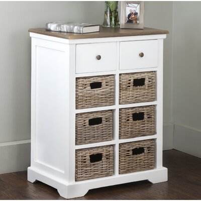 Cleveland 2 Drawer Chest Color: White