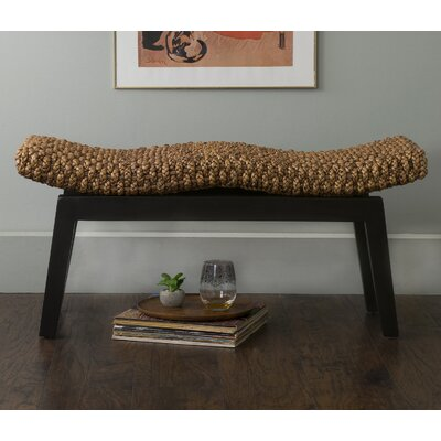 Vincenza Wood Bench Color: Mahogany