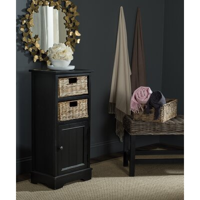 Dashwood 1 Door Accent Cabinet Color: Distressed Black