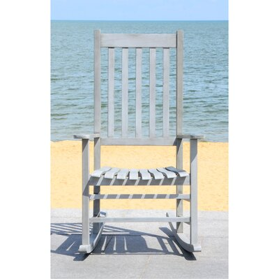 Kandace Rocking Chair Frame Color: Grey Wash