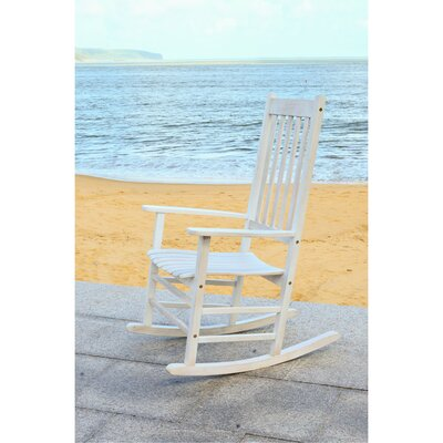Kandace Rocking Chair Frame Color: White Wash