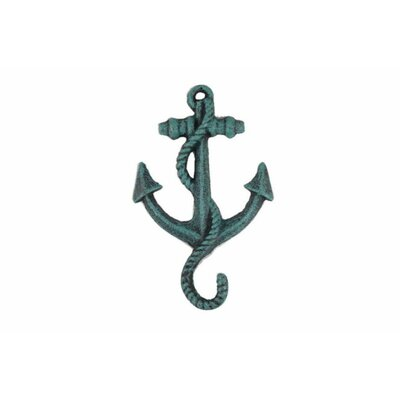 Veranda Wall Hook Color: Seaworn Blue
