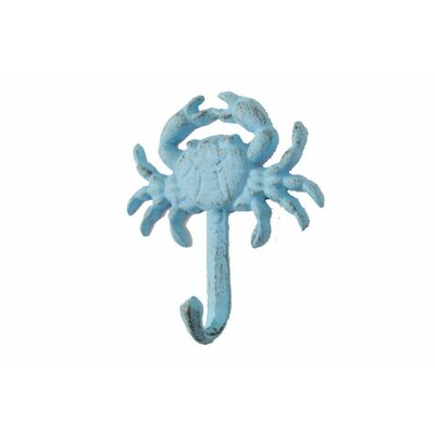 Beata Cast Iron Wall Mounted Wall Hook Color: Light Blue