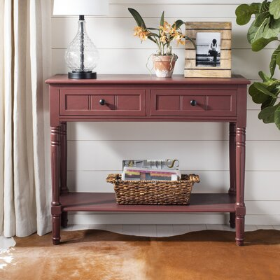 Manning 2 Drawer Console Table Color: Red