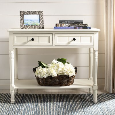 Manning 2 Drawer Console Table Color: Distressed Cream