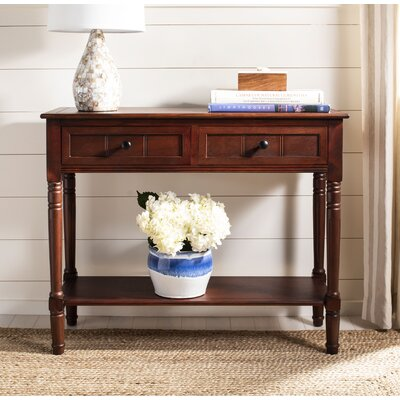 Manning 2 Drawer Console Table Color: Dark Cherry