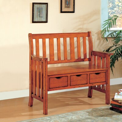 Swan Valley Wood Storage Bench Color: Brown Cherry