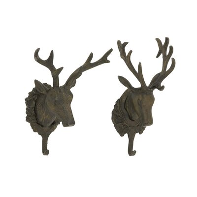 Hartshorne Stylish Deer Head Wall Hook Set