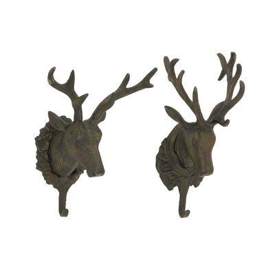 Hartshorne Stylish Deer Head Wall Hook Set