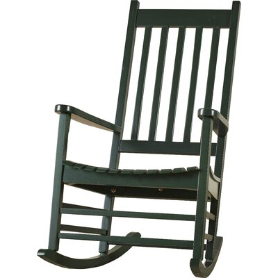 Standish Rocking Chair Frame Color: Hunter Green