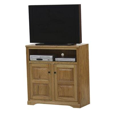 "Glastonbury 41.3"" TV Stand Door Type: Plain Glass, Color: Medium Light Oak"