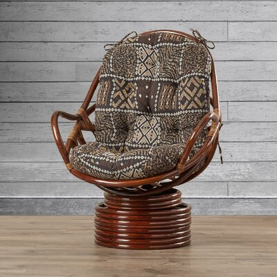 Sandstone Rattan Swivel Rocker Upholstery: Gone Fishing
