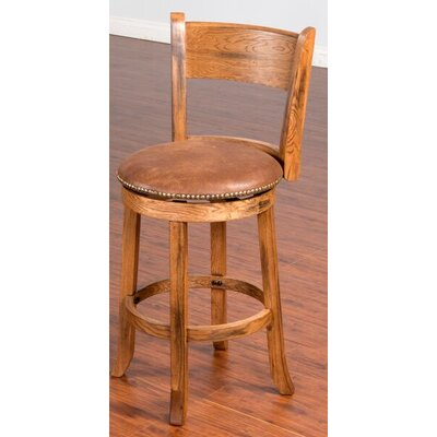 "Fresno 30"" Swivel Bar Stool Option: With back"