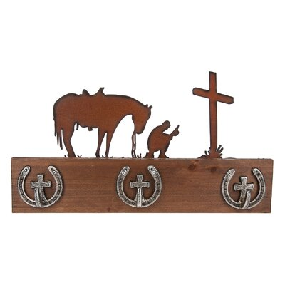 Cowboy Prayer Wall Hook